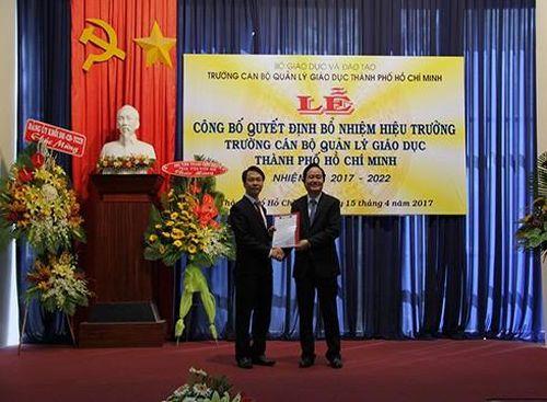 Kỷ luật Hiệu trưởng Trường Cán bộ Quản lý Giáo dục Thành phố Hồ Chí Minh