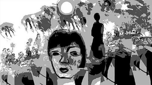 Bóng trăng tuổi thơ