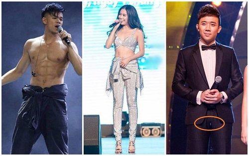 Sao Việt và những pha ngượng chín mặt vì toạc quần, bục váy trên sân khấu