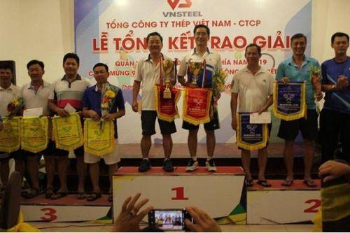 Thép Miền Nam đoạt Giải Nhất đôi nam nhóm >45 tuổi tại Giải quần vợt CNVC-LĐ năm 2019