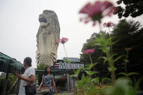 Singapore dỡ bỏ tượng sư tử biển lớn nhất để làm đường