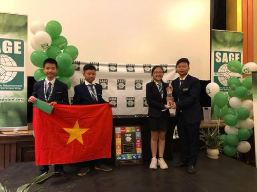 Học sinh Việt Nam giành ngôi quán quân SAGE World Cup
