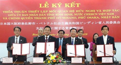Tăng cường quan hệ hợp tác giữa tỉnh Bình Định và TP Izumisano, Nhật Bản