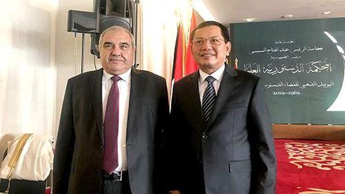 Đoàn cán bộ cấp cao TANDTC Việt Nam thăm và việc tại Ai Cập
