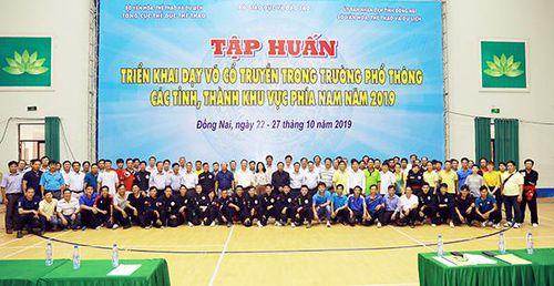 Tập huấn triển khai võ cổ truyền trong trường phổ thông khu vực phía Nam