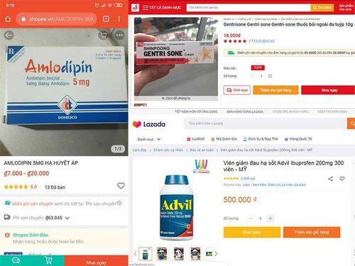 Cảnh báo thuốc kê đơn bán tràn lan trên mạng
