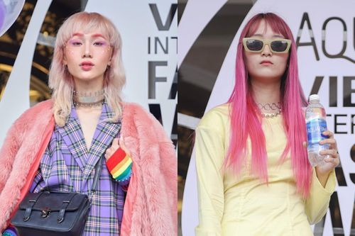 Bạn trẻ nhuộm tóc sắc màu thắng giải ở tuần lễ thời trang