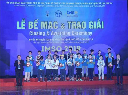 IMSO 2019: Đoàn học sinh Việt Nam giành tổng cộng 36 huy chương
