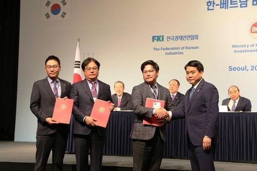 Hàn Quốc đầu tư hơn 15 tỷ USD phát triển hạ tầng đô thị Hà Nội