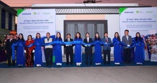 Samsung đưa mô hình giáo dục STEM đến Thái Nguyên và Bắc Ninh