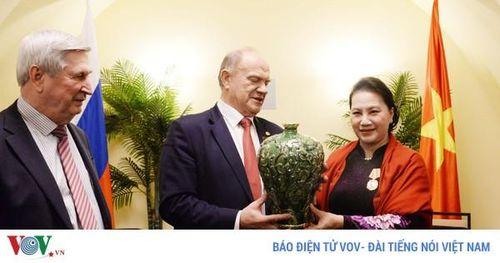 Chủ tịch Quốc hội tiếp lãnh đạo Đảng Cộng sản LB Nga và 2 Hội hữu nghị
