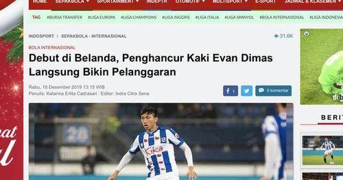 Báo Indonesia mỉa mai Văn Hậu: 'Cầu thủ đốn Evan Dimas' ra mắt 4 phút, nhận 1 thẻ vàng