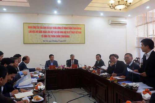 Ban phòng chống tham nhũng TƯ làm việc với LHHKHKT Việt Nam