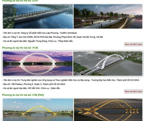 Tác phẩm chung khảo thiết kế cầu vượt sông Hương bị chê kém ấn tượng