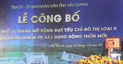 Thành phố Vị Thanh hoàn thành nhiệm vụ xây dựng nông thôn mới