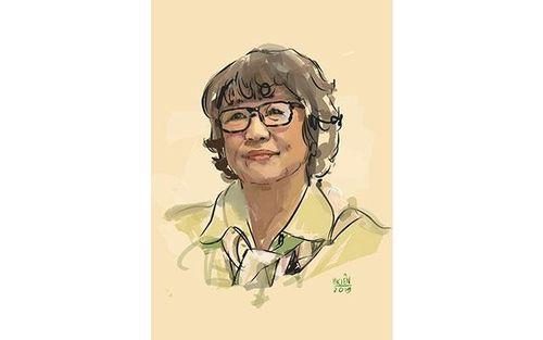 Nhà văn Trần Thị Trường viết và vẽ