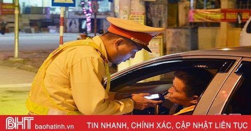Vi phạm nồng độ cồn, 44 tài xế ở Hồng Lĩnh, Nghi Xuân bị xử phạt gần 160 triệu đồng