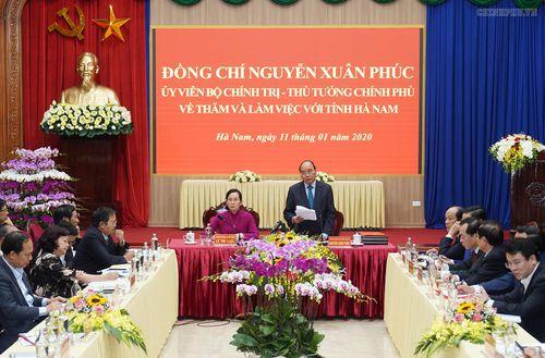 Thủ tướng: Hà Nam cần tự cân đối ngân sách ngay trong năm nay