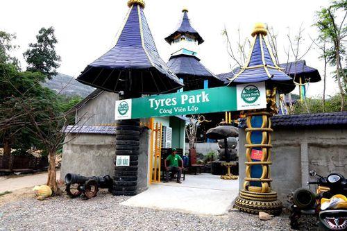 Ngỡ ngàng công viên lốp của 'phù thủy' Nguyễn Văn Phúng