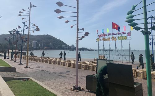 1.200 giàn pháo hoa chờ bắn dịp giao thừa tại Bà Rịa - Vũng Tàu