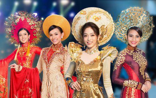 Áo dài của mỹ nhân Việt tại đấu trường quốc tế: Thùy Lâm - Huyền My đẹp rực rỡ, Tường San giật giải vẻ vang
