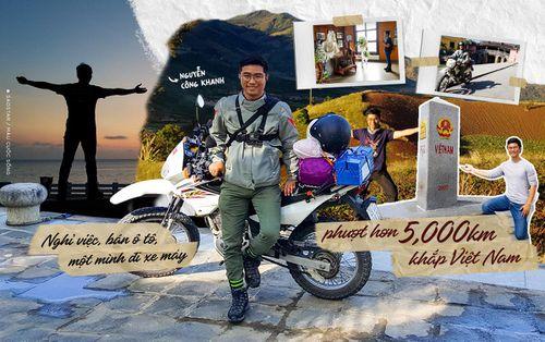 Nghỉ việc, bán ô tô, người đàn ông một mình đi xe máy 'phượt' hơn 5.000 km với khao khát khám phá Việt Nam