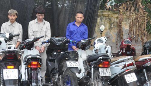 Bắt 3 đối tượng thực hiện nhiều vụ trộm cắp xe máy ở Hải Dương