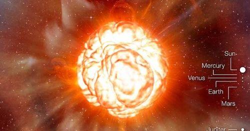Từ trái đất có thể thấy 'siêu mặt trời' đang biến dạng và sắp nổ