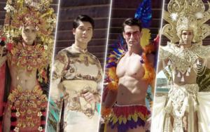 Phạm Đình Lĩnh diện National Costume áo dài độc đáo, được dự đoán đăng quang Manhunt International 2020
