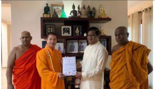 Đại đức Dhammananda Thero Thích Phước Ngọc- tăng sĩ Việt Nam được suy cử làm Chủ tịch Trung tâm Phát triển Trẻ em ISURU SEVANA tại Quốc đảo Sri Lanka