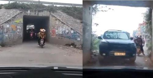 Clip ô tô đi theo xe máy gần hết hầm bị xe 7 chỗ cản đường: Tranh cãi ai đúng ai sai?