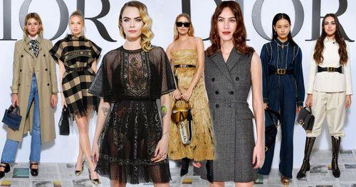 Cara Delevingne bất ngờ diện đầm 'bánh bèo', nổi bật tại show diễn của Dior