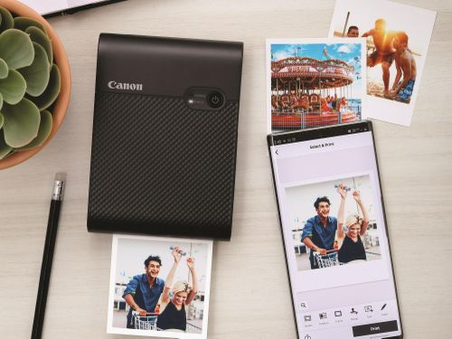 Canon SELPHY SQUARE QX10 in ảnh chất lượng cao trực tiếp từ smartphone