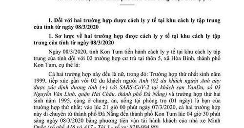 Kết quả xét nghiệm 2 cô gái ở Kon Tum tiếp xúc gần 2 du khách mắc Covid-19
