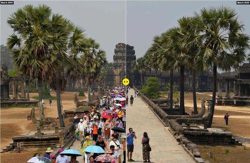 Hình ảnh các điểm du lịch nổi tiếng châu Á trước và sau khi dịch Covid-19 lan rộng