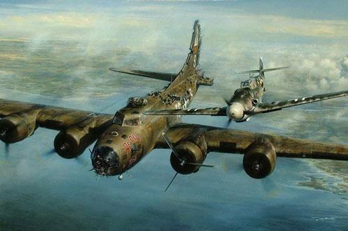 Thấy máy bay của địch bốc khói, phi công người Đức lập tức bám theo và làm 1 việc không ai ngờ