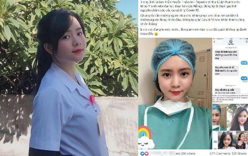 Dân mạng 'cảm nắng' cô gái xinh đẹp tình nguyện đăng kí chăm sóc bệnh nhân cách ly