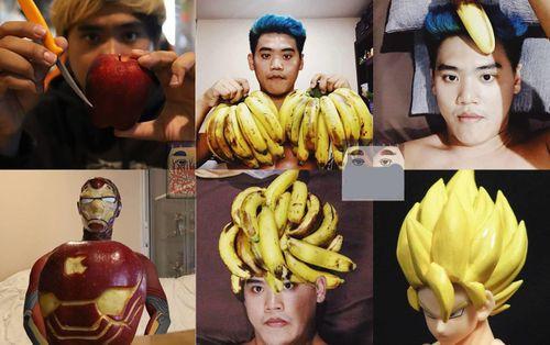 Những màn hóa trang 'siêu bựa' của 'thánh cosplay Thái Lan': Dùng mỗi nải chuối, băng keo cũng biến thành siêu anh hùng