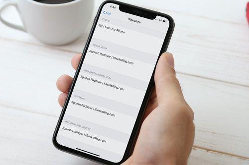 Cách đổi hoặc xóa chữ ký Sent from my iPhone