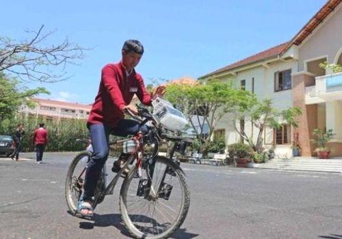 Xe đạp 'lọc' không khí