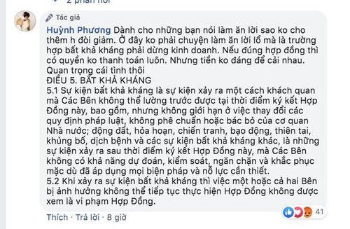 Huỳnh Phương gây tranh cãi vì trách móc chủ nhà không giảm tiền mặt bằng mùa dịch Covid-19