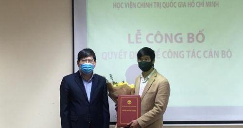 Học viện Chính trị Quốc gia Hồ Chí Minh bổ nhiệm cán bộ