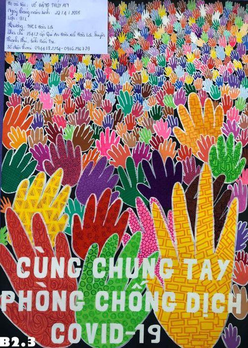 Ấn tượng hàng ngàn tranh vẽ, bài viết của thiếu nhi về phòng chống COVID -19