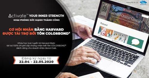 Cơ hội nhận bằng Harvard được tài trợ bởi Tôn Colorbond