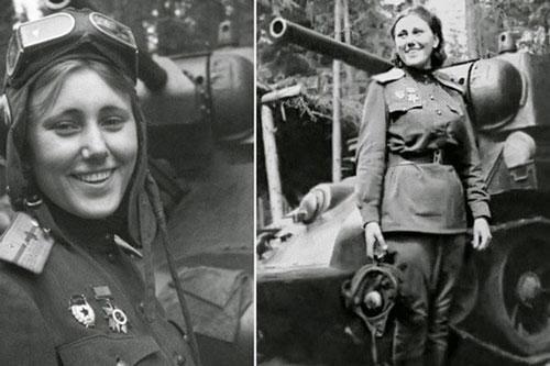 Nữ chiến sĩ lái xe tăng đầu tiên trong lịch sử Liên Xô