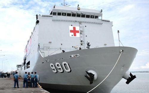 Quân đội Indonesia điều tàu chiến hỗ trợ ứng phó với Covid-19