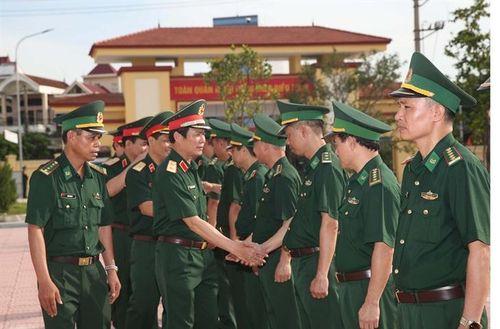 Thứ trưởng Bộ Quốc phòng Nguyễn Tân Cương thăm, kiểm tra tại Bộ Chỉ huy BĐBP thành phố Hải Phòng