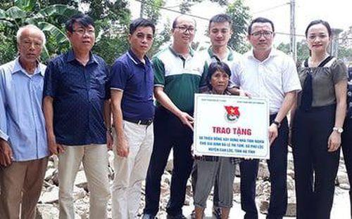 Hà Tĩnh: Vietinbank hỗ trợ xây nhà tình nghĩa cho người già đơn thân khó khăn