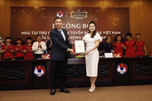 TNI-King Coffee là nhà tài trợ mới của đội tuyển Việt Nam