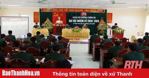 Đại hội Đảng bộ Phòng Chính trị, Đảng bộ Quân sự tỉnh nhiệm kỳ 2020-2025